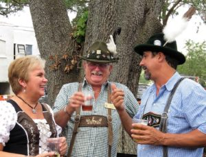 German Fest goers at the Crooked Can Oktoberfest